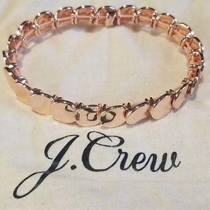 J. Crew rose gold circle bracelet